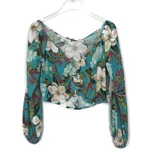 Lovers + Friends Floral Tropical Crop Top Size Med